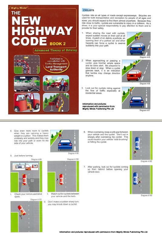 New Highway code section about safety for cyclist