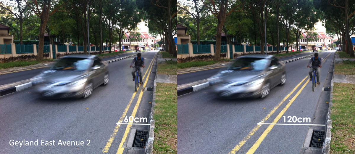 No space for bike lane? or 1500 km opportunities in Singapore ...