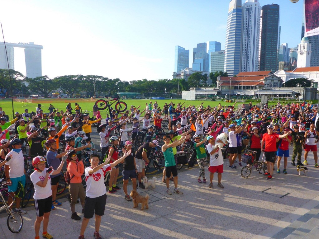 Cheers to the first Car Free Day in Singapore- in LovecyclingSG style!