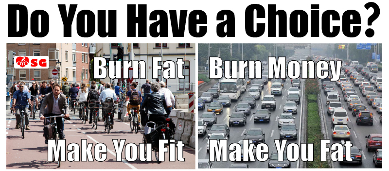 Burn Fat or burn money, your choice. Fitter or fatter, also your choice!