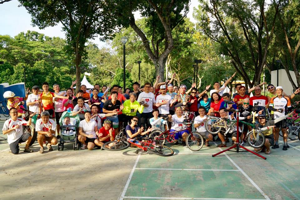 2017 LCSG bike handling and servicing workshop at East Coast Park